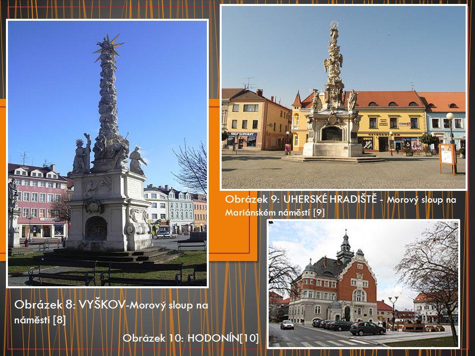 Obrázek 8: VYŠKOV-Morový sloup na náměstí [8]
